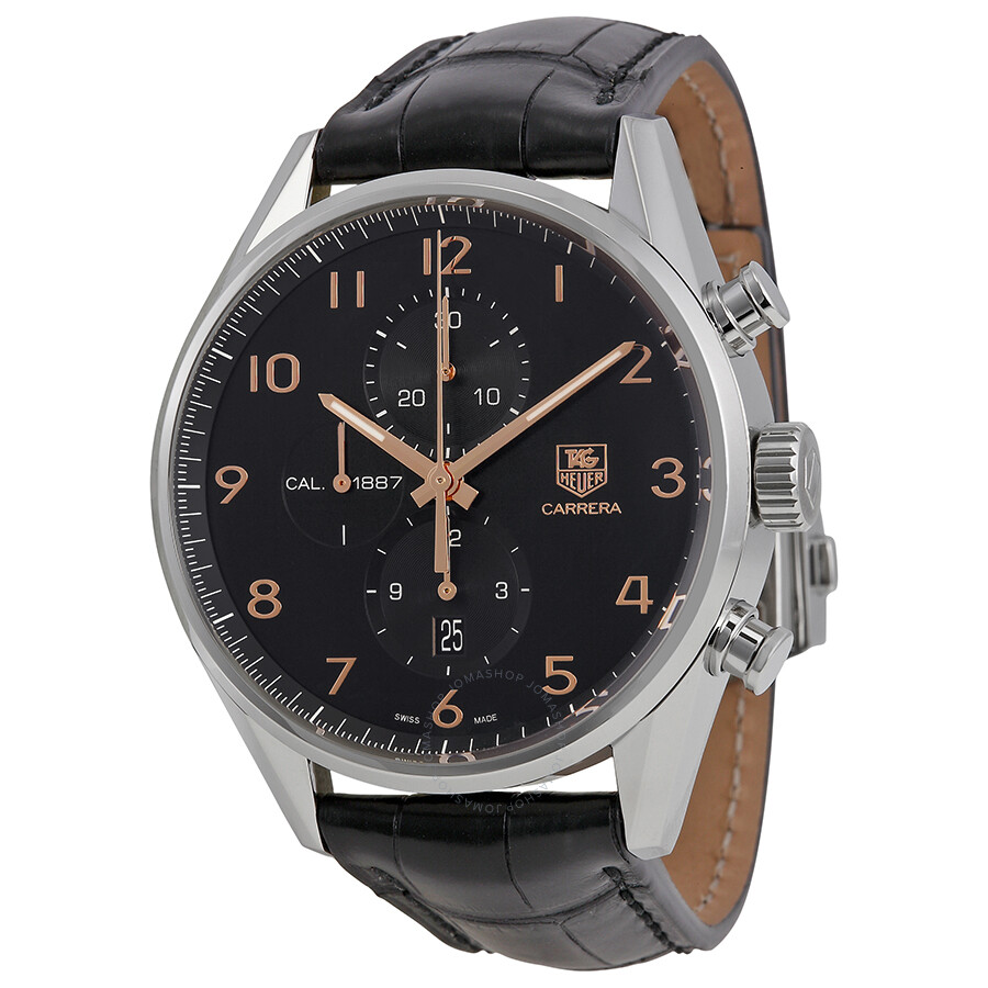 Tag heuer carrera calibre 1887 chronograph automatic men 39 s watch car2014 fc6235 carrera tag for Tag heuer chronograph