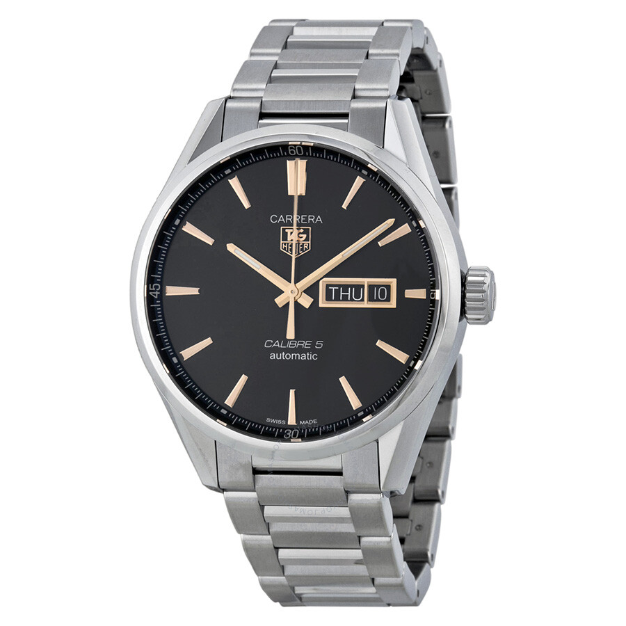 04c18ee23c5 Tag Heuer Carrera Calibre 5 Black Dial Men s Watch WAR201CBA0723 Item No.  WAR201C.BA0723