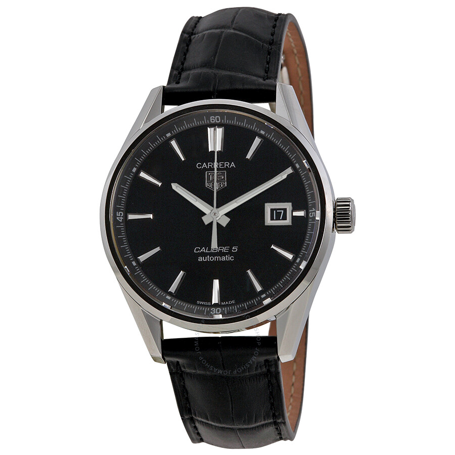 dc7be3ac663 Tag Heuer Carrera Calibre 5 Black Dial Men s Watch WAR211AFC6180 Item No.  WAR211A.FC6180