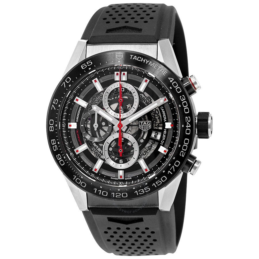 ab310f2240a Tag Heuer Carrera Calibre Heuer 01 Automatic Skeleton Dial Men s Watch  CAR2A1Z.