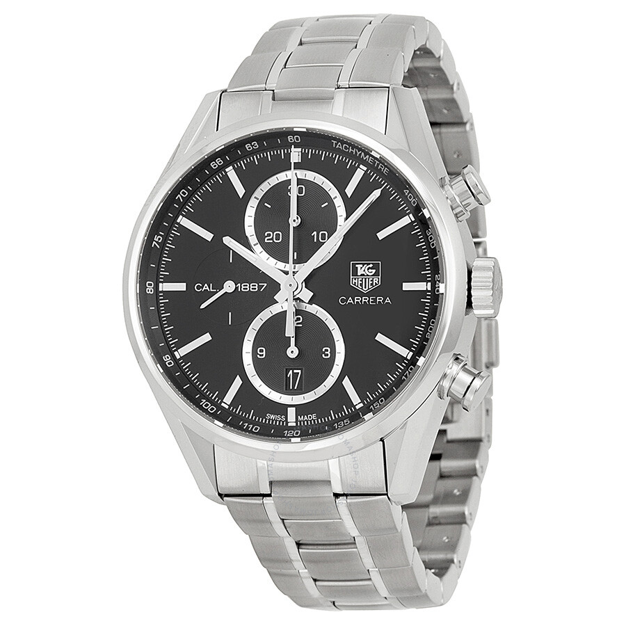 tag heuer carrera chronograph automatic black dial stainless steel men 39 s watch car2110 ba0724. Black Bedroom Furniture Sets. Home Design Ideas