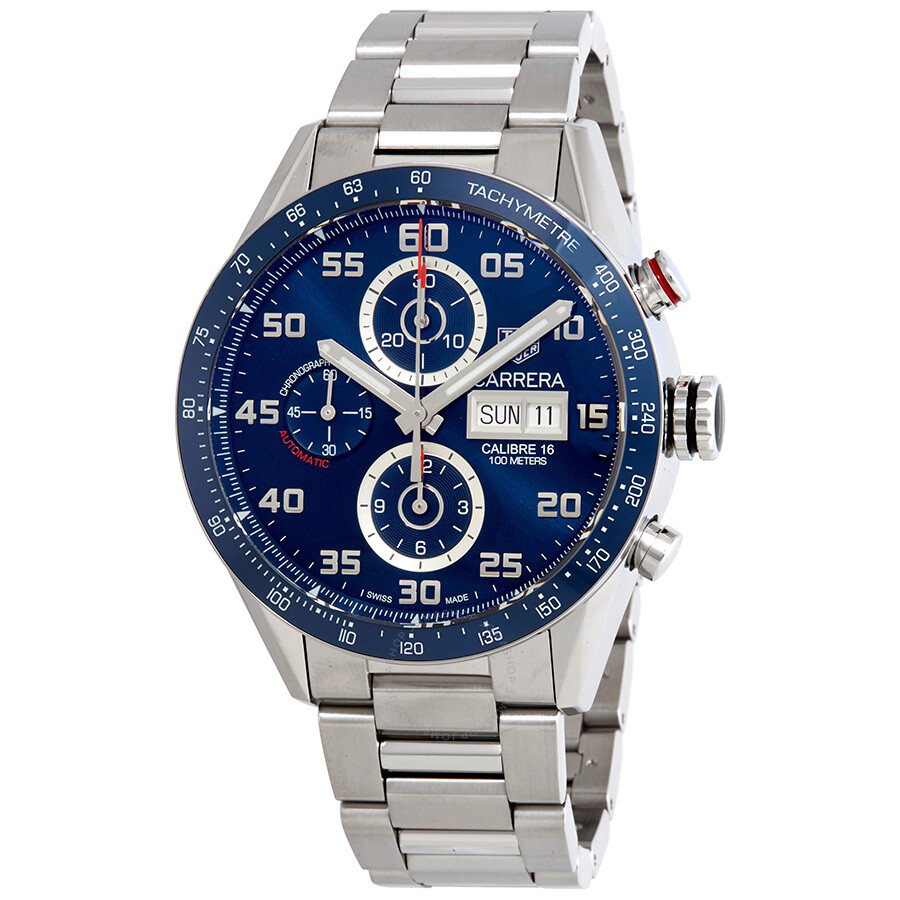 f7122340661fb Tag Heuer Carrera Chronograph Automatic Blue Dial Men s Watch CV2A1V ...