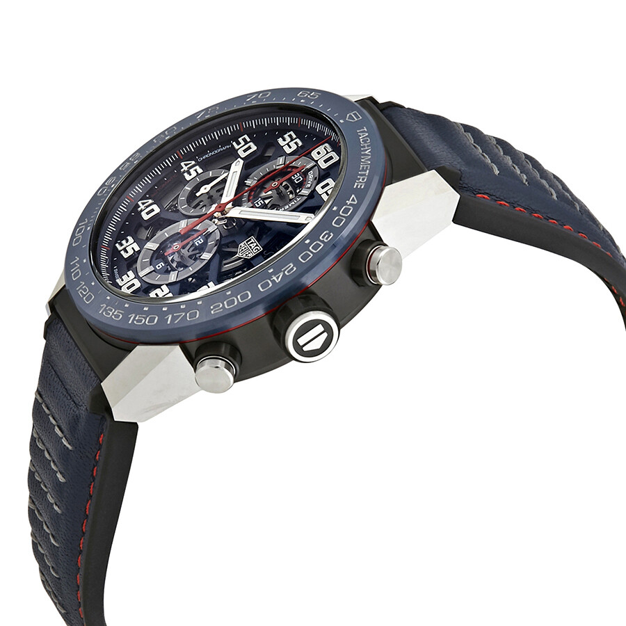 ffa0acfef30f9 ... Tag Heuer Carrera Chronograph Automatic Blue Skeleton Dial Men s Watch  CAR2A1NFT6100 ...