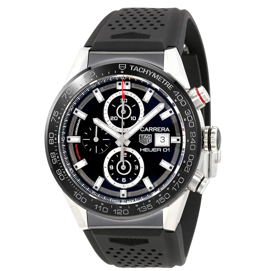 Tag heuer carrera chronograph automatic men 39 s watch car201z ft6046 carrera tag heuer for Tag heuer chronograph