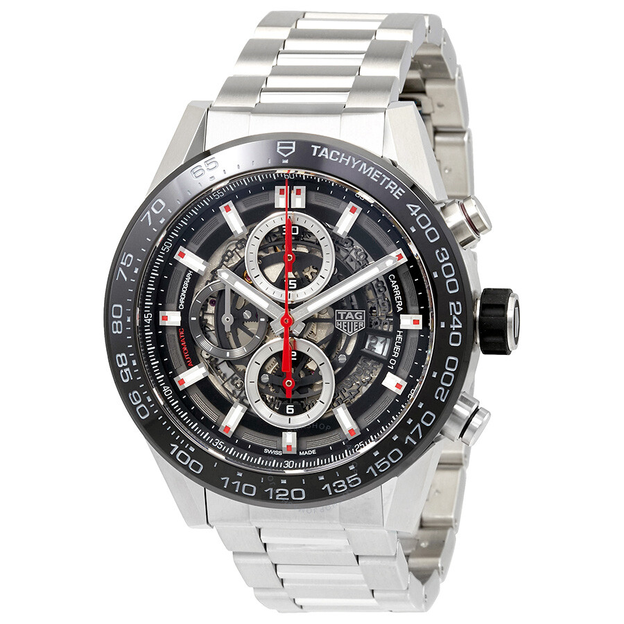 Tag heuer carrera chronograph automatic men 39 s watch car2a1w ba0703 carrera tag heuer for Tag heuer automatic