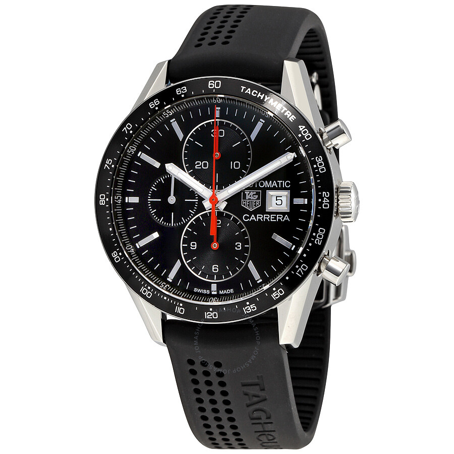 Tag heuer carrera chronograph automatic men 39 s watch cv201am ft6040 carrera tag heuer for Tag heuer automatic