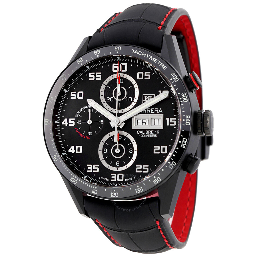 Tag Heuer Carrera Black Dial Chronograph Automatic Men S Watch Cv2a81 Fc6237 Carrera Tag