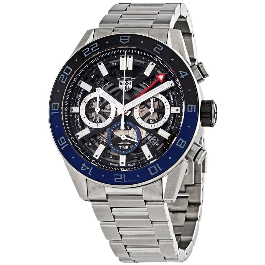 Tag Carrera Watch >> Tag Heuer Carrera Chronograph Automatic Batman Bezel Men S Watch Cbg2a1z Ba0658