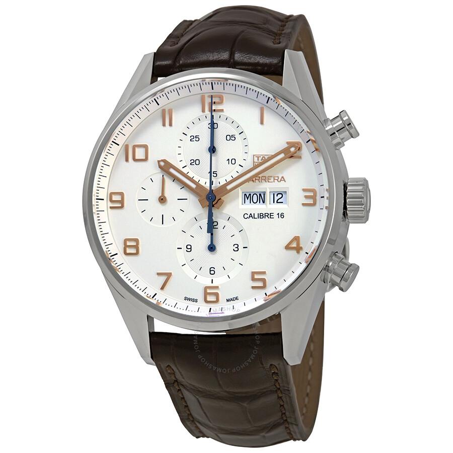e09e7e3acd9a2 Tag Heuer Carrera Chronograph Automatic Silver Dial Men s Watch CV2A1AC.