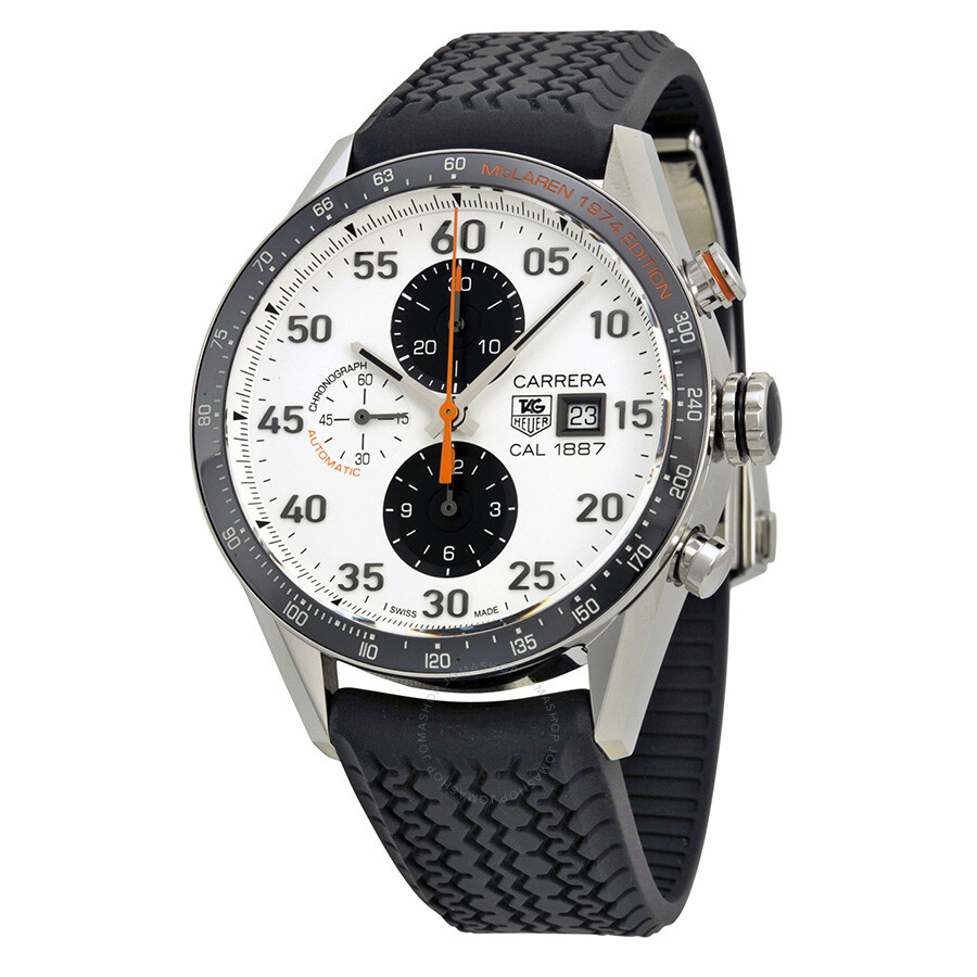 Tag heuer carrera chronograph mclaren calibre 1887 men 39 s watch car2a12ft6033 carrera tag for Tag heuer chronograph