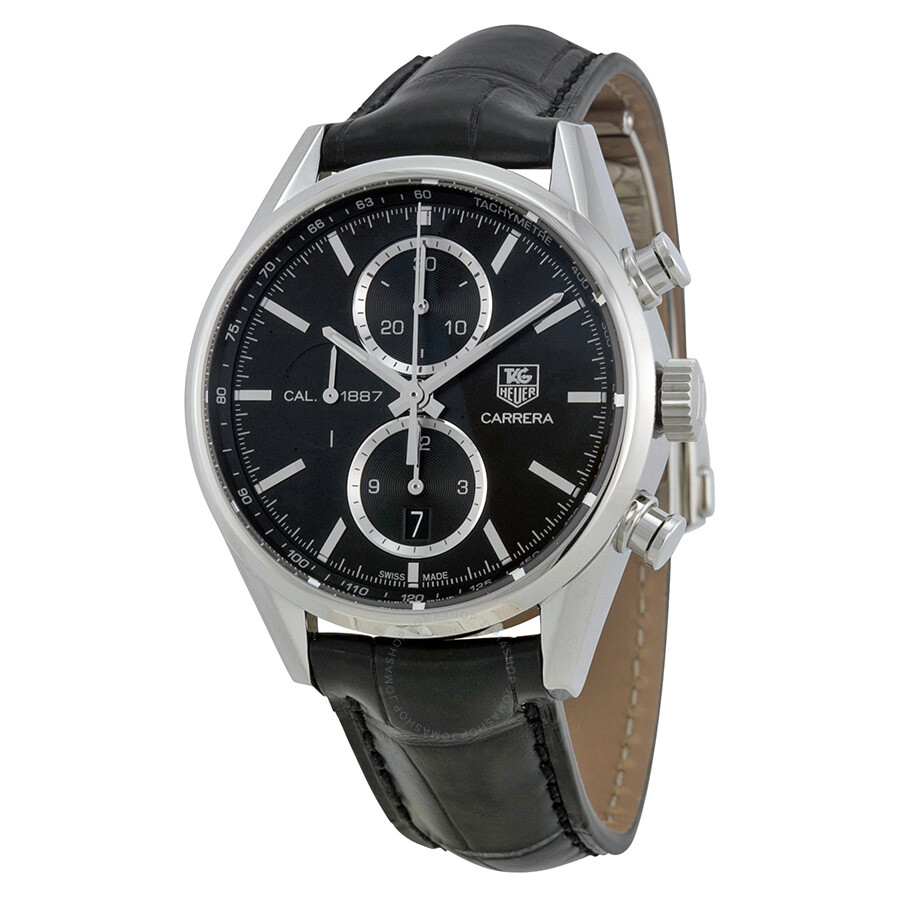 Tag: Tag Heuer Carrera Chronograph Automatic Black Dial Men's