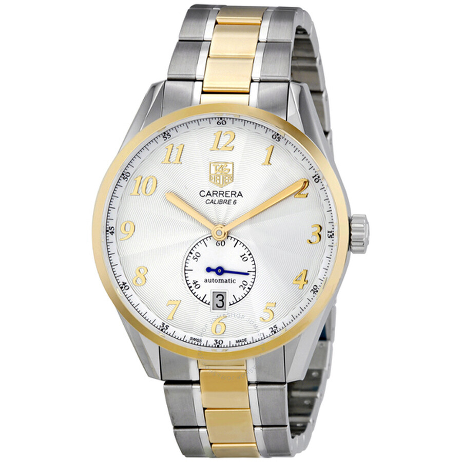 29d1f6a9769 Tag Heuer Carrera Heritage Automatic Silver Dial Men s Watch WAS2150BD0733 Item  No. WAS2150.BD0733