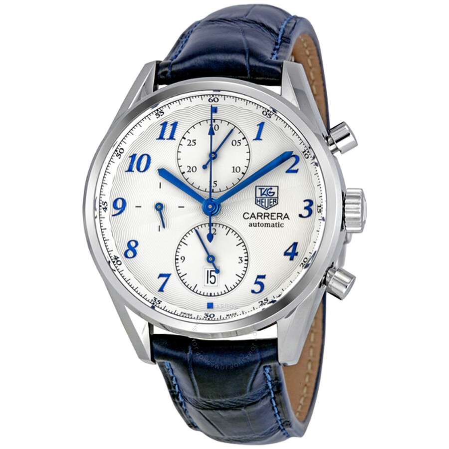 tag heuer carrera heritage chronograph automatic blue alligator tag heuer carrera heritage chronograph automatic blue alligator leather men s watch cas2111