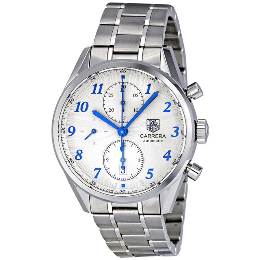 ae406d351550d Tag Heuer Carrera Heritage Chronograph Silver Dial Automatic Men s Watch  CAS2111.