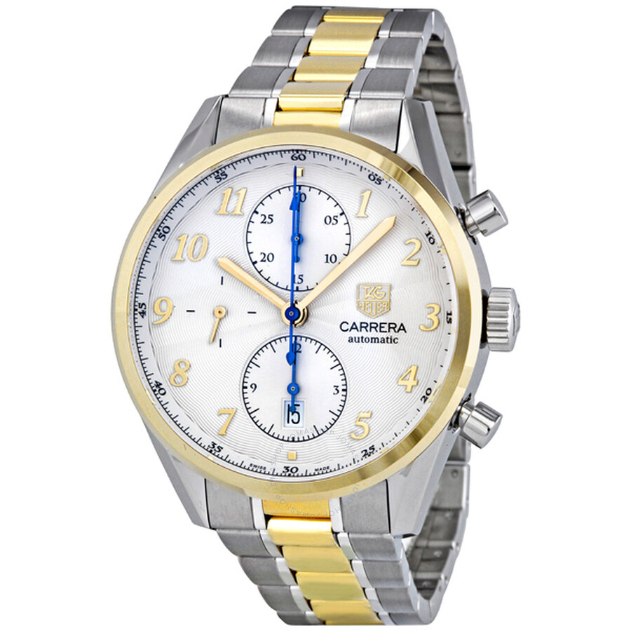 5a74d809a14 Tag Heuer Carrera Heritage Chronograph Silver Dial Automatic Men s Watch  CAS2150.