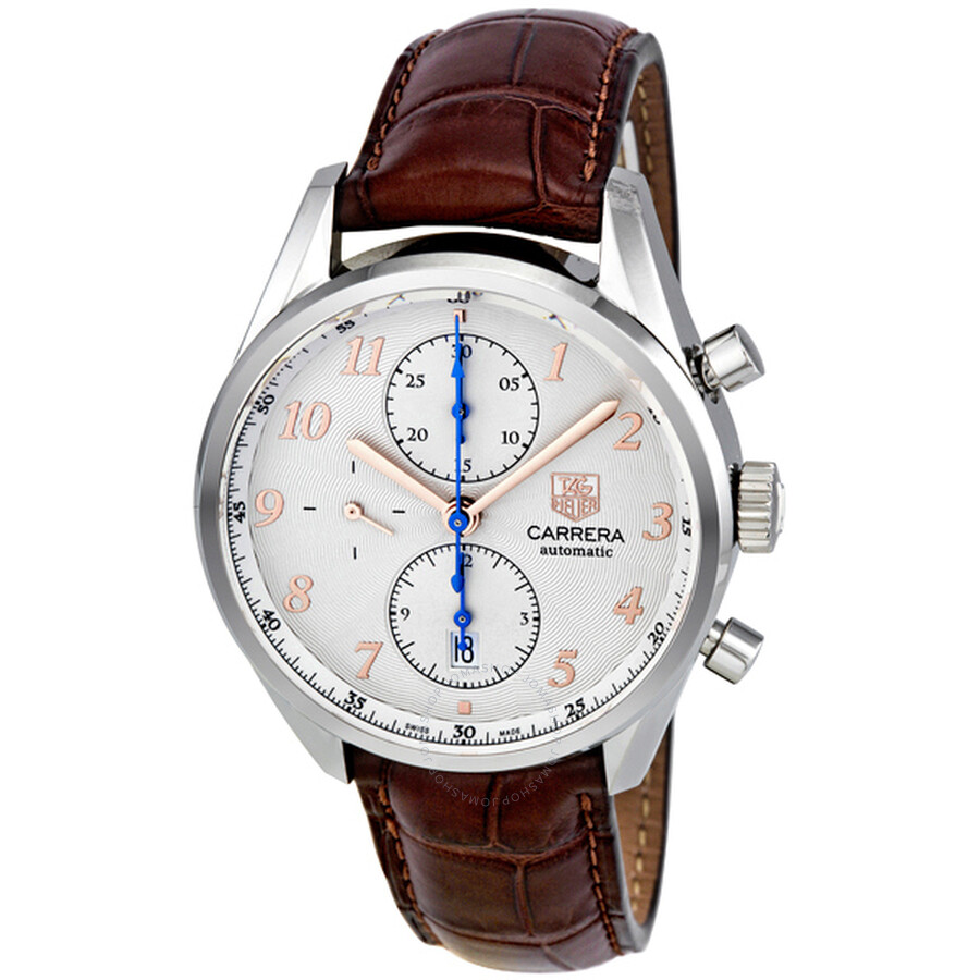863073d9d72 Tag Heuer Carrera Heritage Chronograph Silver Dial Men s Watch CAS2112.