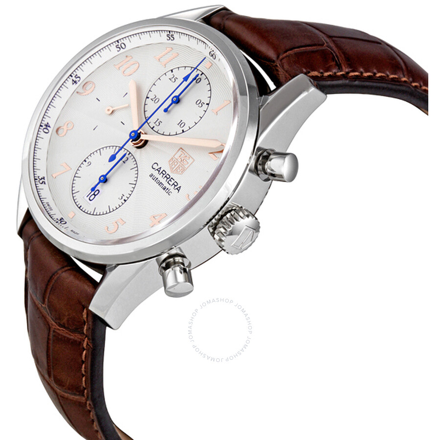 3f50c0395bf FC6291 Tag Heuer Carrera Heritage Chronograph Silver Dial Men s Watch  CAS2112.