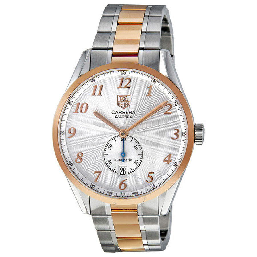 Tag Heuer Carrera Heritage Silver Dial Automatic Steel And 18kt Rose Gold Men S Watch Was2151 Bd0734