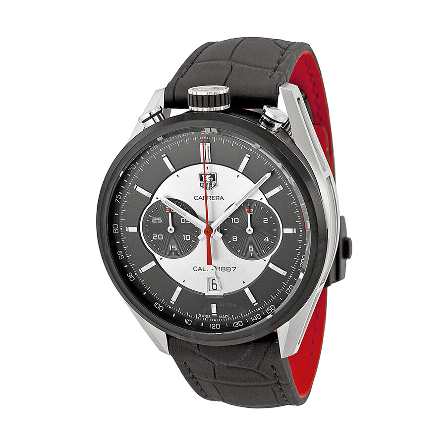 tag heuer carrera jack heuer edition automatic chronograph men 39 s watch car2c11fc6327 carrera. Black Bedroom Furniture Sets. Home Design Ideas