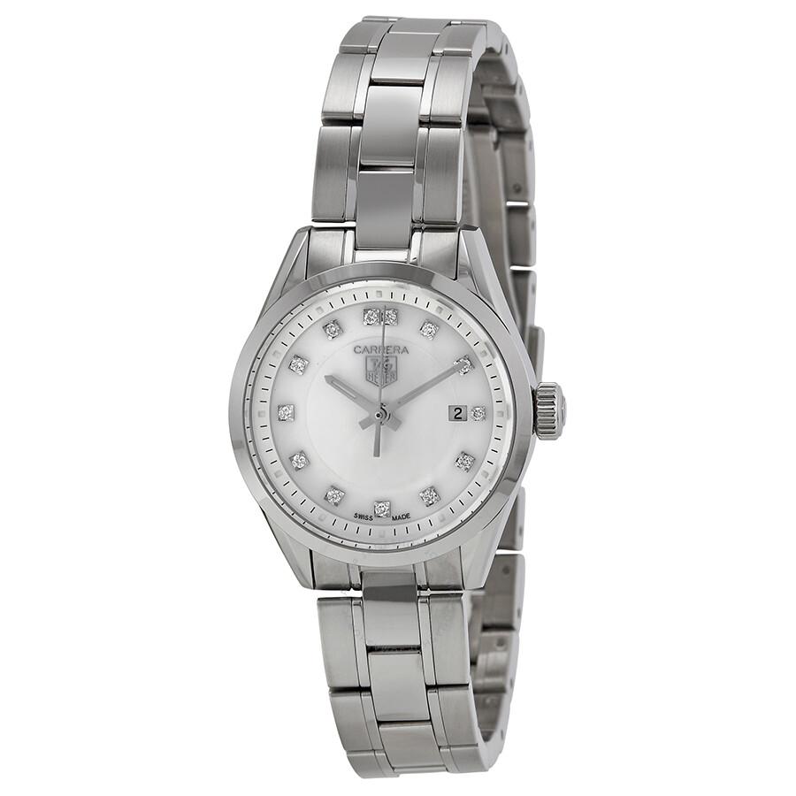 11e52dfdc0635 Tag Heuer Carrera Ladies Quartz Watch WV1411.BA0793 - Carrera - Tag ...