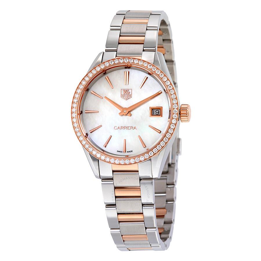 Tag Heuer Carrera Diamond Ladies Watch WAR1353.BD0779 - Carrera ... 9d974db3b