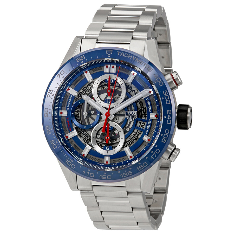 1c622bc8e65 Tag Heuer Carrera Skeleton Dial Automatic Men s Chronograph Watch CAR201T.
