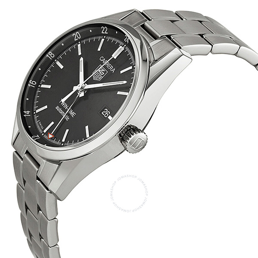 80804f414552 Tag Heuer Carrera Twin-Time Automatic Men s Watch WV2115.BA0787 ...