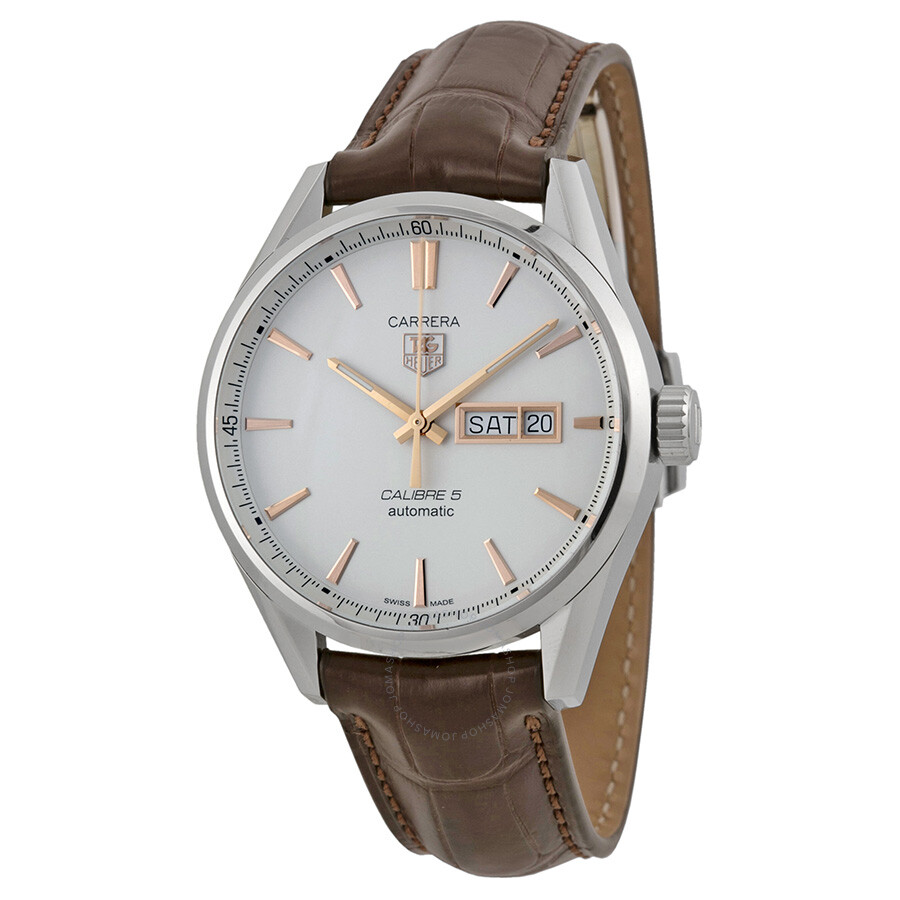 Tag Heuer Carrera Automatic White Dial Men's Watch WAR201D ...