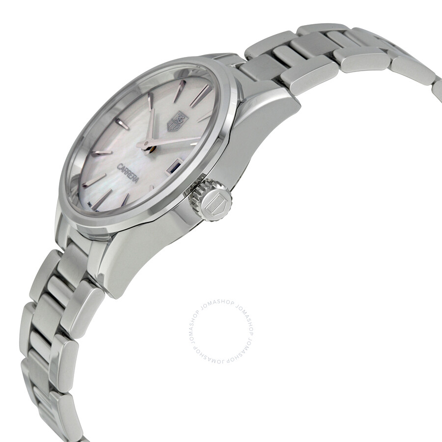 Tag Heuer Carrera White Mother of Pearl Dial Ladies Quartz ...