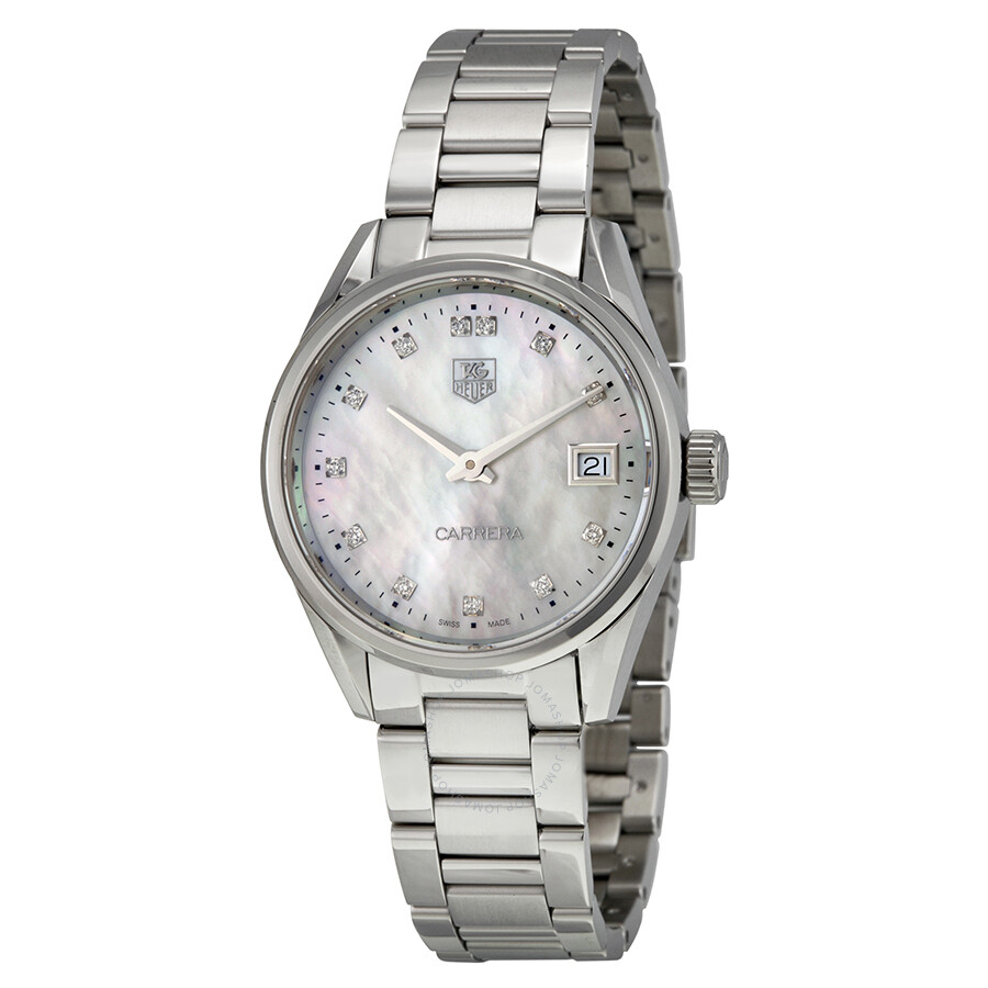 tag heuer carrera mother of pearl dial ladies watch war1314 ba0778 carrera tag heuer