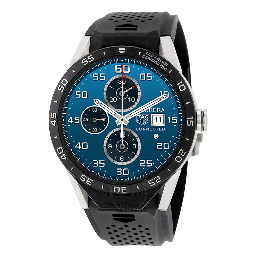 57aae154f10 Tag Heuer Connected Titanium Vulcanized Rubber Men s Watch SAR8A80 ...