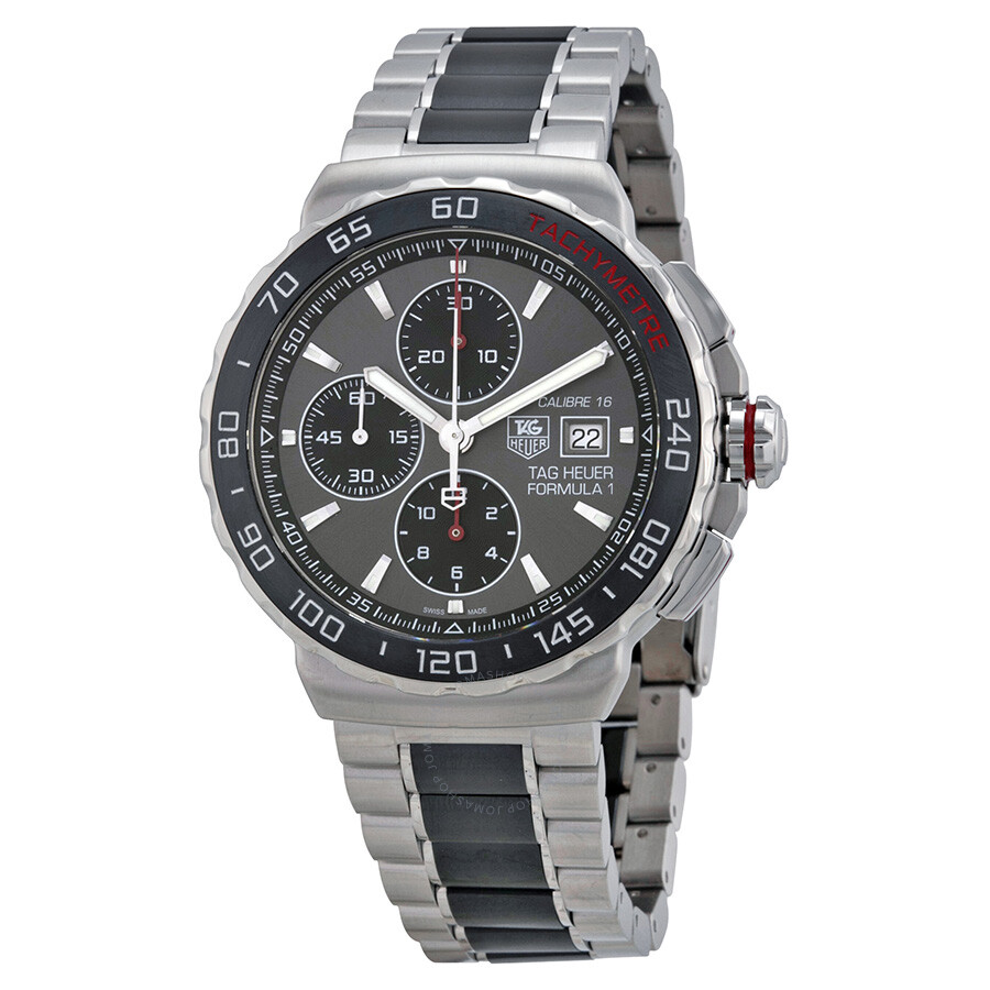 tag heuer formula 1 anthracite dial steel and ceramic chronograph tag heuer formula 1 anthracite dial steel and ceramic chronograph men s watch cau2011