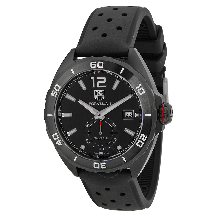 76c29d052cb6 Tag Heuer Formula 1 Automatic Black Dial Black Rubber Men s Watch WAZ2112.