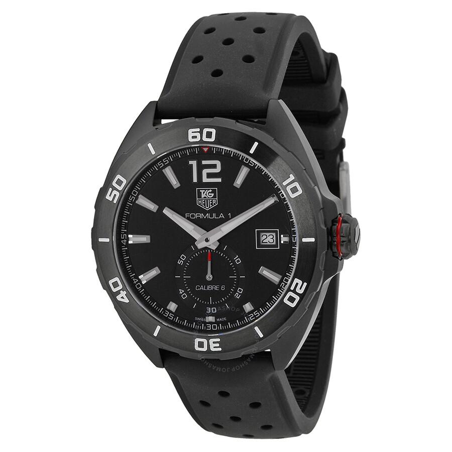 tag heuer formula 1 automatic black dial black rubber men 39 s watch waz2112 ft8023 formula 1. Black Bedroom Furniture Sets. Home Design Ideas