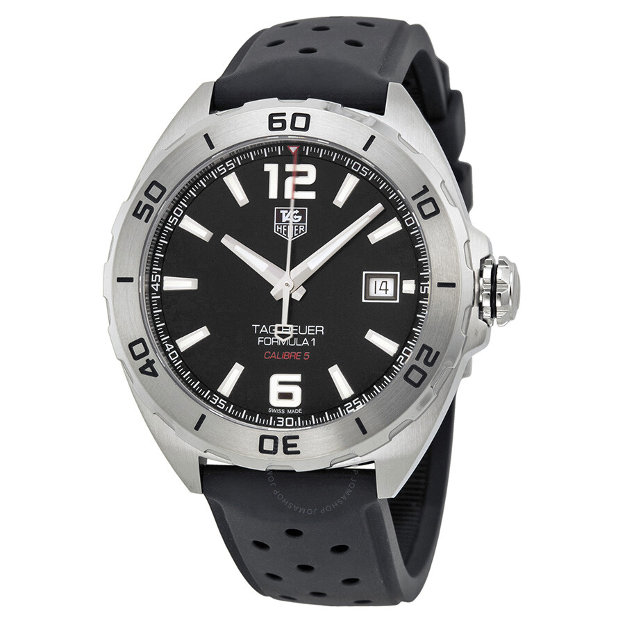 tag heuer formula 1 automatic black dial black rubber men s watch tag heuer formula 1 automatic black dial black rubber men s watch waz2113ft8023
