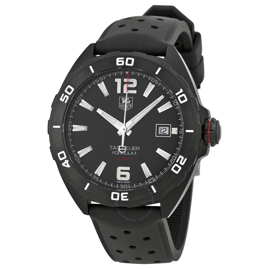 tag heuer formula 1 automatic black dial men 39 s watch. Black Bedroom Furniture Sets. Home Design Ideas