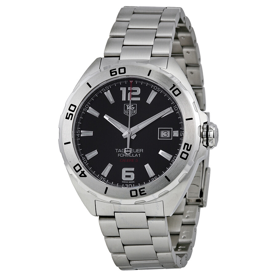 Tag heuer formula 1 automatic black dial stainless steel men 39 s watch waz2113ba0875 formula 1 for Tag heuer automatic