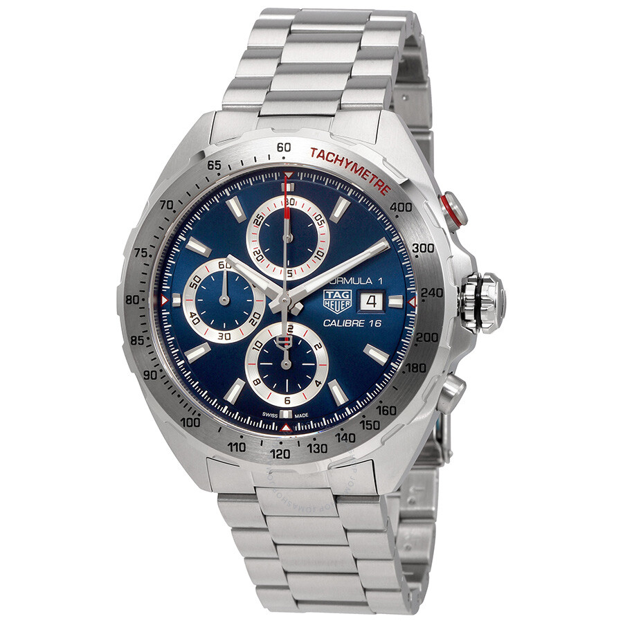 46d456b9a81e Tag Heuer Formula 1 Blue Sunray Dial Automatic Men s Chronograph Watch  CAZ2015.