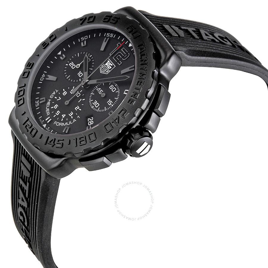 03ba98c9c774 FT6024 Tag Heuer Formula 1 Black Dial Black Rubber Men s Watch CAU1114.