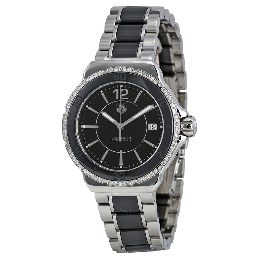 Tag heuer formula 1 black dial ladies watch wah1212 ba0859 formula 1 tag heuer watches for Tag heuer women
