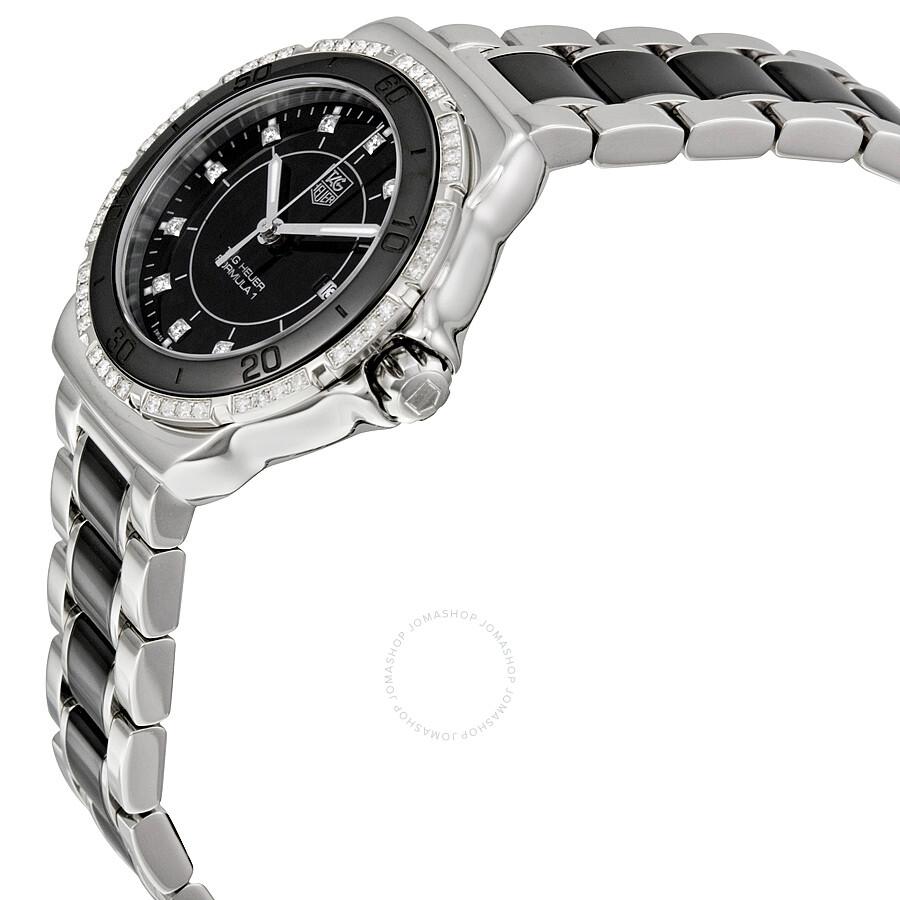ce5c1080aea BA0867 Tag Heuer Formula 1 Black Dial Steel and Ceramic Ladies Watch WAH1312 .BA0867 ...