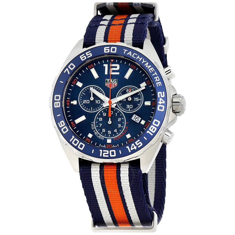 tag heuer formula 1 watches jomashop tag heuer formula 1 blue chronograph men s watch