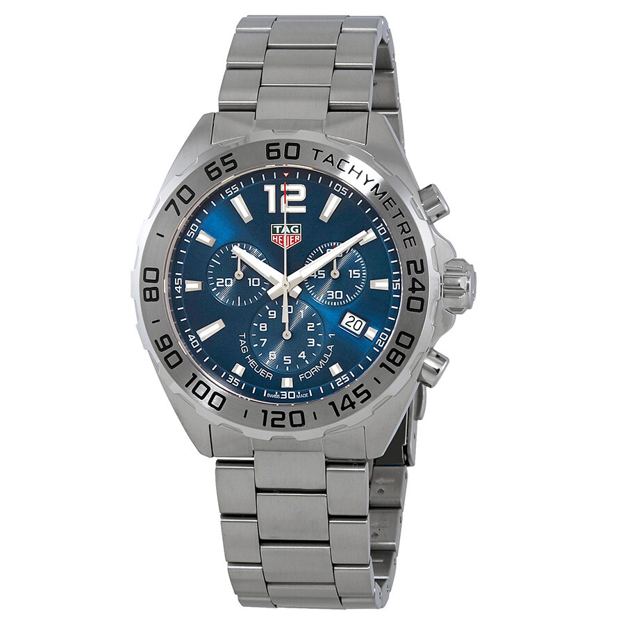 best website 07309 68350 Tag Heuer Formula 1 Blue Sunray Dial Chronograph Men's Watch CAZ101K.BA0842