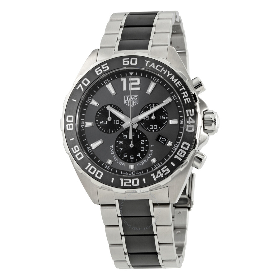 tag heuer formula 1 chonograph grey dial men 39 s watch. Black Bedroom Furniture Sets. Home Design Ideas
