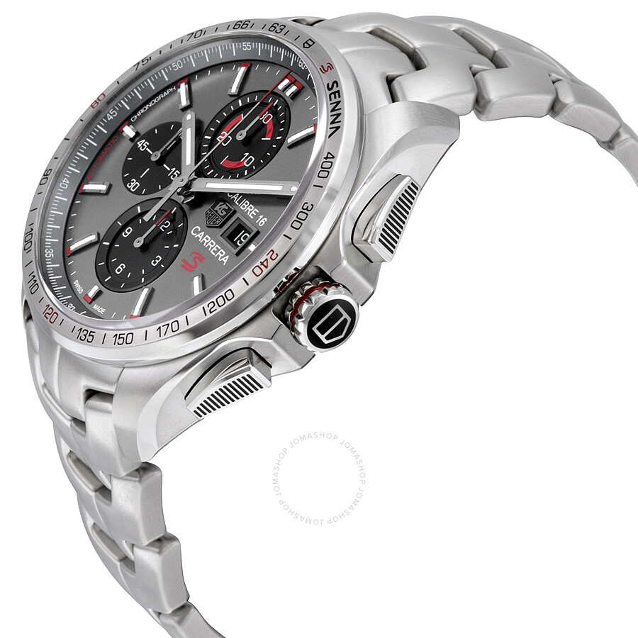 Tag heuer carrera chronograph anthracite dial stainless steel men 39 s watch cbb2010 ba0906 for Tag heuer chronograph