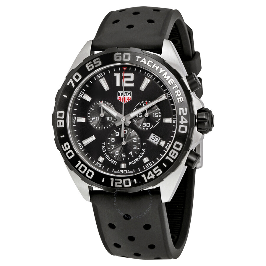 8b1516c1c49 Tag Heuer Formula 1 Chronograph Black Dial Men s Watch