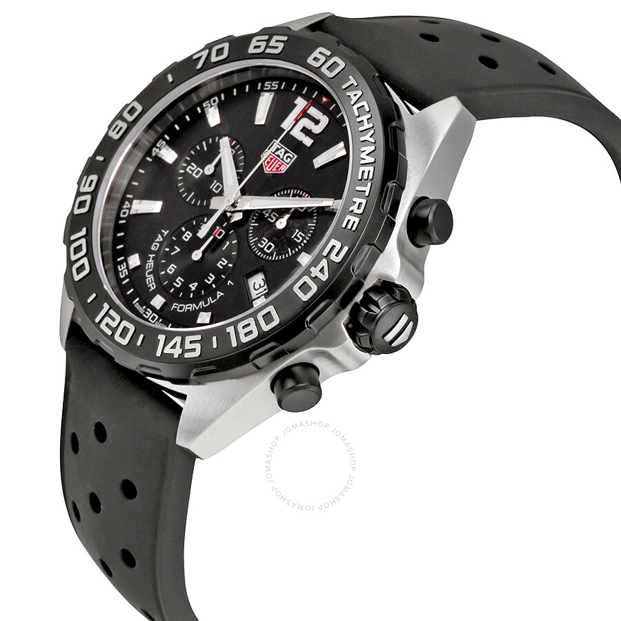 tag heuer formula 1 chronograph black dial men s watch