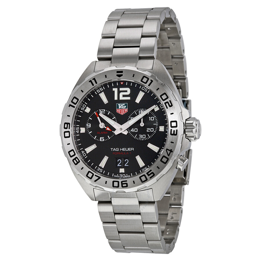 Tag heuer formula 1 chronograph black dial men 39 s watch waz111a ba0875 formula 1 tag heuer for Tag heuer chronograph