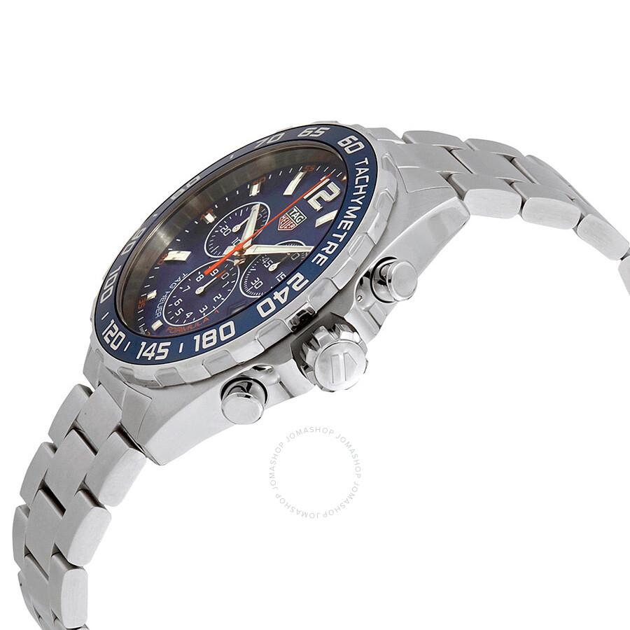 1439400dc5a BA0842 Tag Heuer Formula 1 Chronograph Blue Dial Men's Watch CAZ1014.BA0842  ...