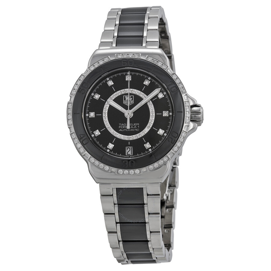 5fb31208bb9 Tag Heuer Formula 1 Diamond Accented Black Ceramic Ladies Watch  WAU2212BA0859 Item No. WAU2212.BA0859